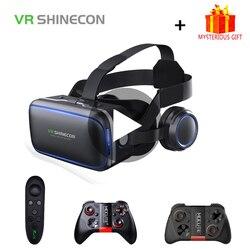Shinecon 6,0 шлем VR умные 3д Очки виртуальной реальности 3 D 3D очки шлем для iPhone Android смартфон стерео виар игр смартфонов видео видеоочки с экраном э...
