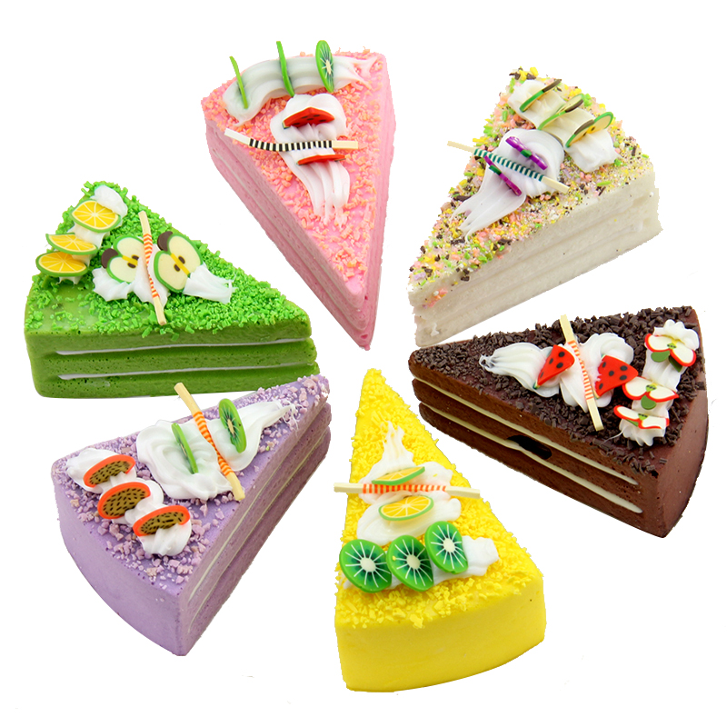TB040 Kunstmatige cake kunstmatige fruit model veelkleurige cake nep fruit brood cake voedsel set