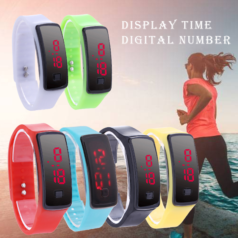 2018 Fashion LED Digital Watches Bracelet Wristwatch For Men Ladies Kids Clock Womens Digital Wrist Watch Sport Student fashion snake shape boy girl children watch sport led digital wristwatch for women men black rubber running ladies watch kids