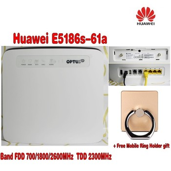 Unlocked HUAWEI E5186s-61a LTE CPE Cat6 300Mbps Wireless WiFi Router+ free gift