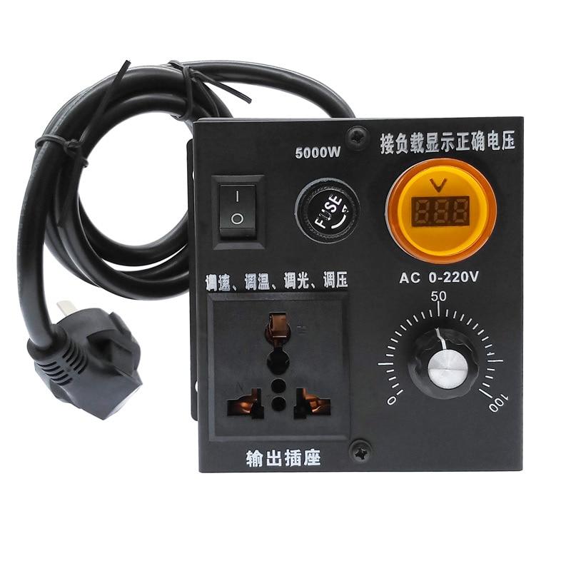 220V 5000W SCR Voltage Pressure Regulator Motor Speed Controllor Temperature Regulation/speed Regulation/dimming/brightening