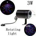 10 pçs/lote novo 85 - 260 V 3 W RGB LED cristal luz de palco colorido lâmpada VoRotating Disco DJ eua Plug ( preto ) frete grátis