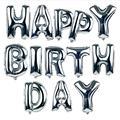 13 unids/lote Grande 16 inch Feliz Cumpleaños Carta En Forma de Globos Decoración Globo de Aire Inflable Foil Globos de la Fiesta de Regalos de Los Niños