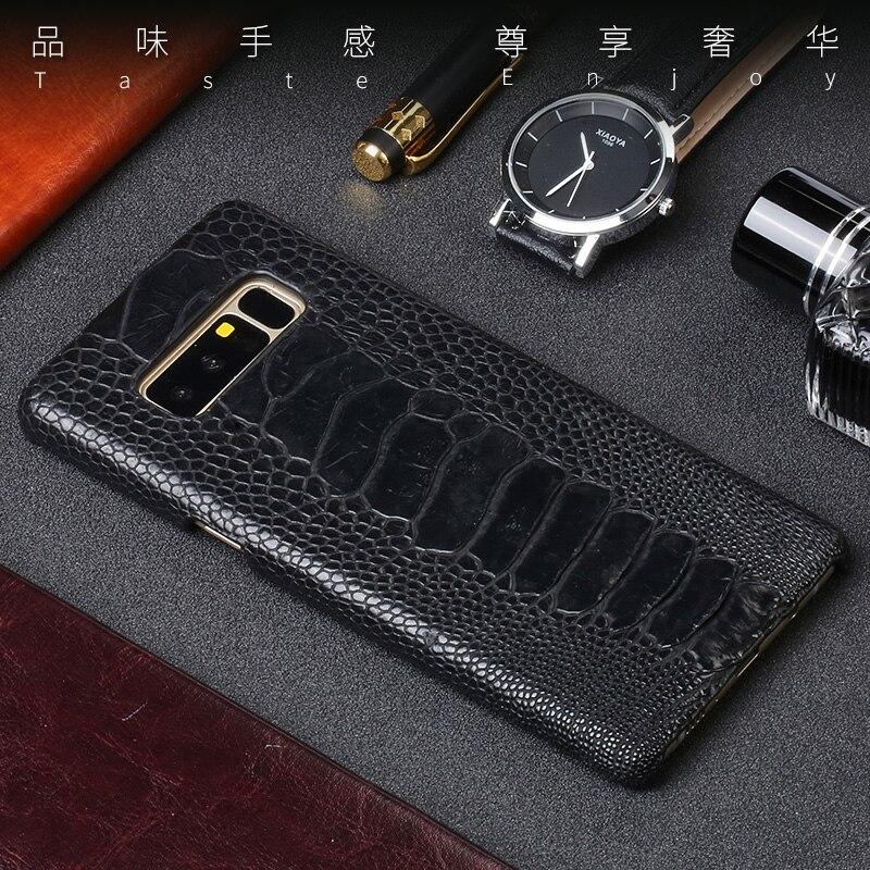 En Cuir de luxe étui pour samsung S10 plus lite en cuir Véritable d'autruche peau couverture arrière Pour Galaxy Note 10 10 et 10 + fundas
