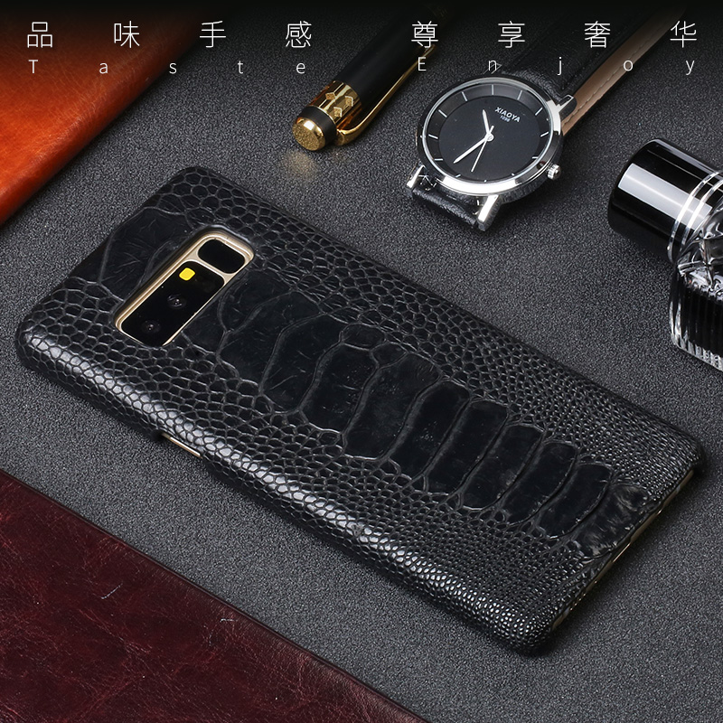 Luxury Leather case For Samsung S10 plus lite Genuine leather ostrich leg skin back cover For Galaxy Note 10 10plus 10+ fundas