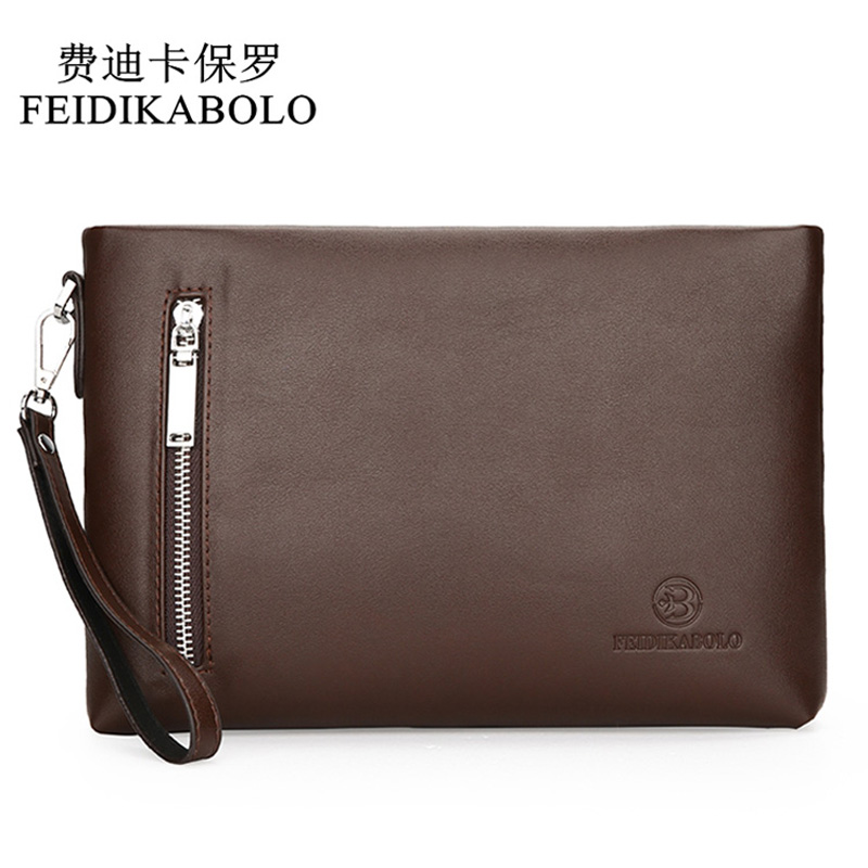 FEIDIKABOLO New 2017 Business Male Leather Purse Men s Clutch Envelope Clutches For Men Handy Bag