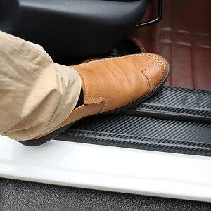 Image 1 - Led verschleißplatten türeinstiegsleisten Carbon Fibre Aufkleber Auto Zubehör Für KIA RIO K2 Limousine Fließheck 2010   2014 2015 2016 2017 2018