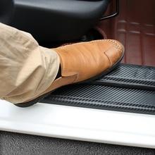 Placa de desgaste para umbral de puerta, pegatina de fibra de carbono, accesorios de coche para KIA RIO K2 Sedan Hatchback 2003 2016 2010 2014 2015 2016