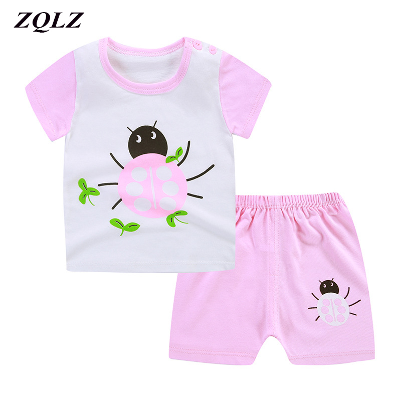Child Lady Garments Units Cartoon Summer season Kids Clothes Cotton Informal O-neck T Shirts Shorts 1-Four Years Boys Garments Clothes Units, Low cost Clothes Units, Child Lady Garments Units...