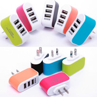 EU/US Plug Wall Charger Station 3 Port USB Charge Charger Travel AC Power Chargers Adapter for Huawei Xiaomi iPhone Dropshopping Mobile Phone Chargers     -