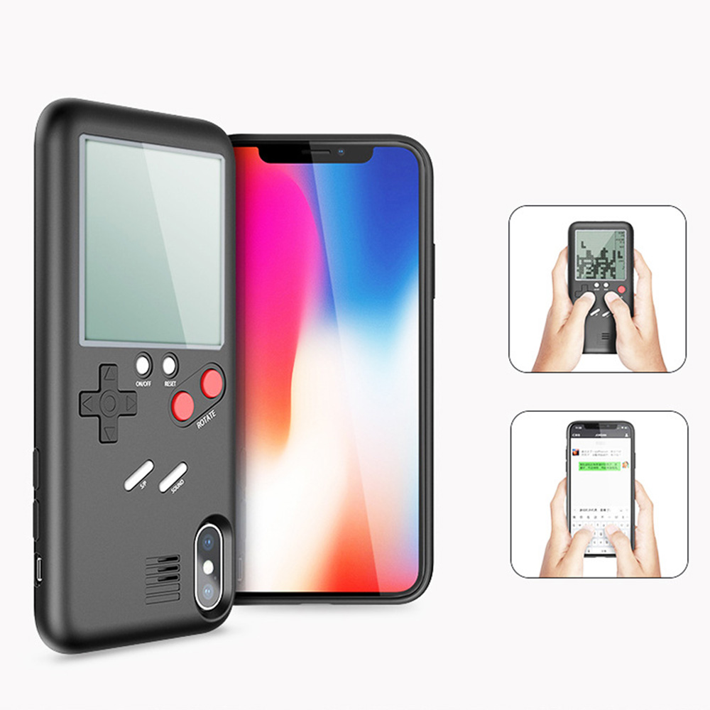 2018 High Quality Newest Tetris Phone Cases For iPhone X Soft TPU Can Play Game Console Case Cover For iPhone X