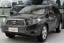 Rare 2009 Grey1:18 TOYOTA Highlander SUV Off Road Alloy Model Car Miniature Scale Model Hot Sale  Brinquedos