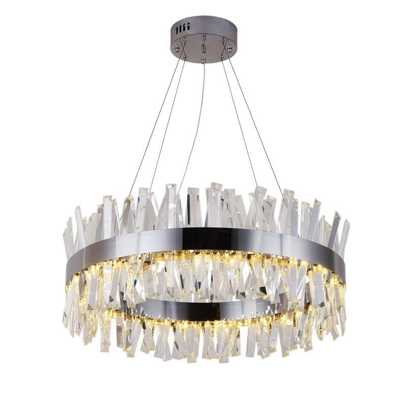 Novo e moderno restaurante lustre de cromo/ouro rodada de cristal da lâmpada sala de estar decoração lustre lâmpada do hotel LEVOU