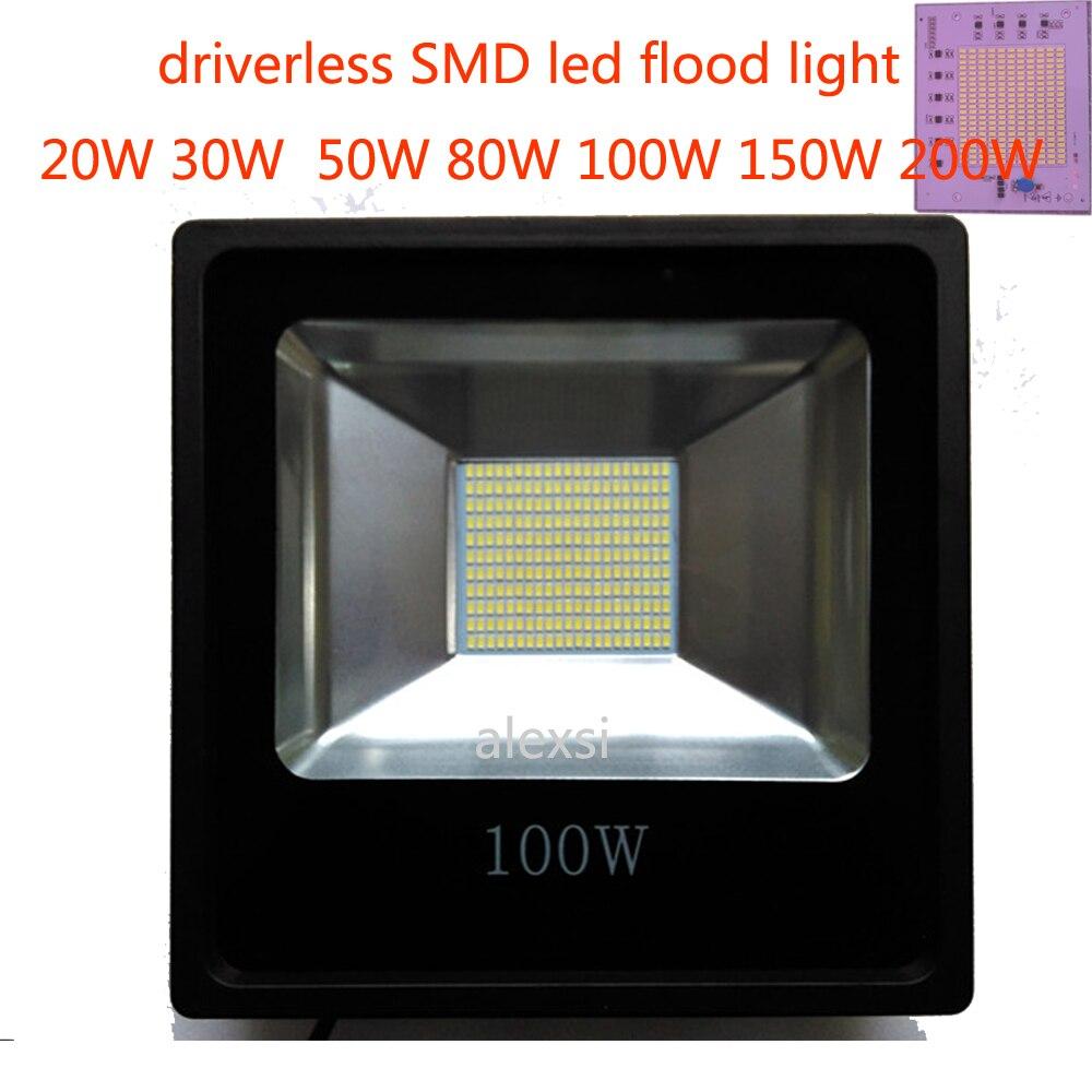 Led Flood Light 220V 200W/150W/100W/60W/30W/15W Floodlight Watts Led Spotlight Projector Outdoor Security Waterproof IP65