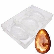 Золотые модные яйца для выпечки, форма для шоколада и конфет, бриллиантовое яйцо