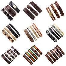 Vintage Multilayer Leather Bracelet Handmade Adjustable Wris