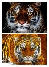 5D DIY Вышивка с кристаллами стерео Тигры Головы Алмазная мозаика полный алмазов Вышивка со стразами подарки украшения дома