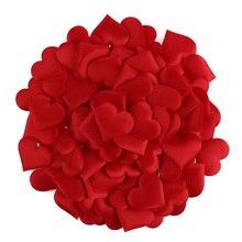 100 шт./лот любовь губка в форме сердца лепесток для свадьбы декоративные ручной работы DIY лепестки день рождения стол свадебные принадлежности