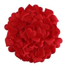 100 unids/lote de pétalos de esponja en forma de corazón para boda decorativos hechos a mano DIY, mesa de cumpleaños, suministros para fiestas de bodas
