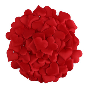 100pcs/lot Love Heart Shaped Sponge Petal For Wedding Decorative Handmade DIY Petals Birthday Table Wedding Party Supplies