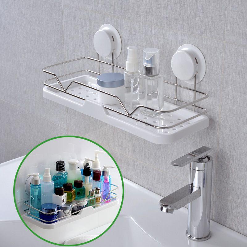 Aliexpress.com : Buy New Dual Strong Suction Cup Bathroom Shelf ...