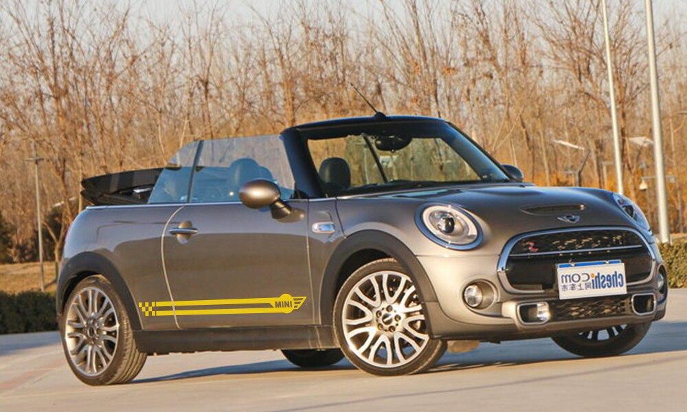 Наклейки для спортивных автомобилей длинные штаны с полосками, автомобильная виниловая наклейки своими руками для Mini Cooper R56 R57 R58 R50 R52 R53 R59 R61 R60 F60 F55 F56 F54