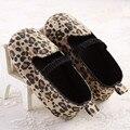 Bonito do Leopardo do Bebê Meninas Princesa Sapatos Da Criança Bebê Fundo Duro/Soft Sola Antiderrapante Primeiro Walkers Do Bebê Meninas Mary Janes Sapatos