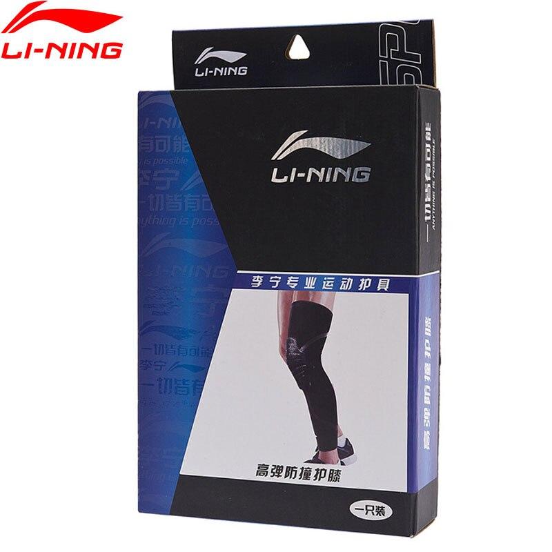Li-Ning Unisex Professional Knee Cushion Pad Sleeve 53%SBR 39%Nylon 8%Spandex LiNing Sport Knee Protector AXWN062 ZYF271