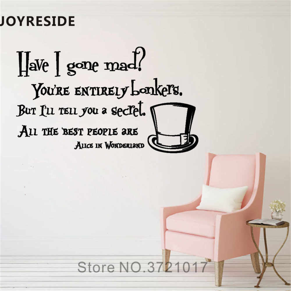 Detail Feedback Questions About JOYRESIDE Have I Gone Mad Wall Decal