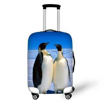 Animal Penguin Travel Accessories Suitcase Protective Covers 18-32 Inch Elastic Luggage Dust Cover Case Stretchable Bag pvc suitcase bag protective covers transparent rain dust luggage travel accessories wear resistant bag protect parts sleeve case