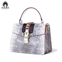 2018 New Hot Free Shipping Python Leather Handbag Snake Skin Handbag Single Shoulder Bag Women Handbag