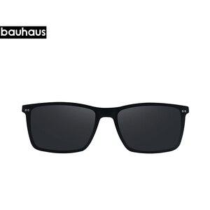 Image 3 - Gafas de sol ultrafinas para hombre, lentes ultrafinas con clip en marco óptico borde completo Vintage para miopía, antirreflejos/UV