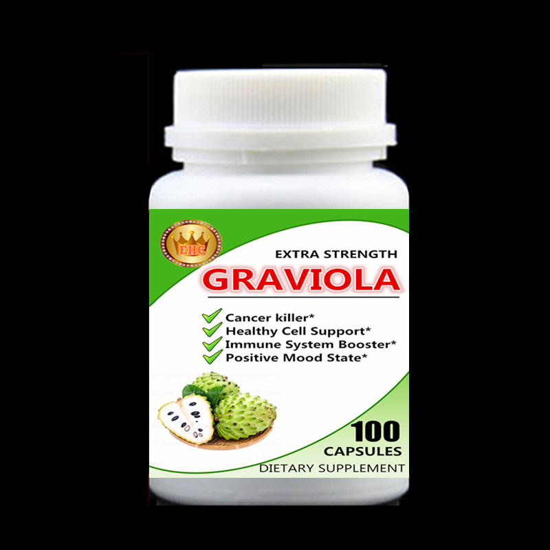 Cancel Killer,Graviola Extract,Healthy Cell Support,Immune System Booster,Positive Mood State,Soursop,Guanabana - 100pcs/bottle siberian chaga mushroom extract 100pieces bottle boost your energy level support your immune system free shipping