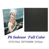LED Screen Display P6 32*32 Pixel 1/8 Scan 192*192MM Full Color RGB 3 in1 SMD3528 LED Module Board Signs Indoor