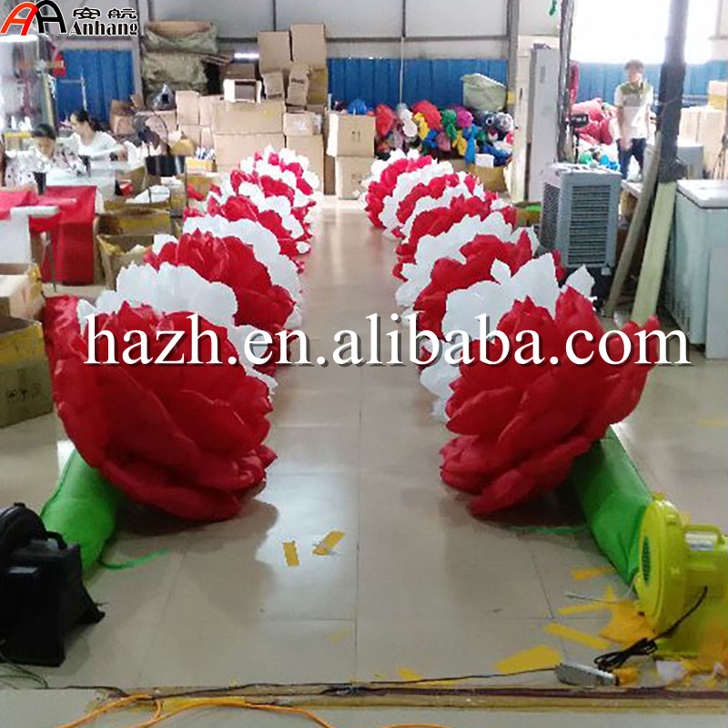 Wedding Decoration Inflatable Rose Flower Chain with - Furniture - Photo 2