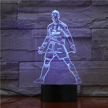 Usb 3d Led Night Light Touch Sensor 7 Color Changing Table Lamp Bedside Soccer Lights Football Player Cristiano Ronaldo Figure