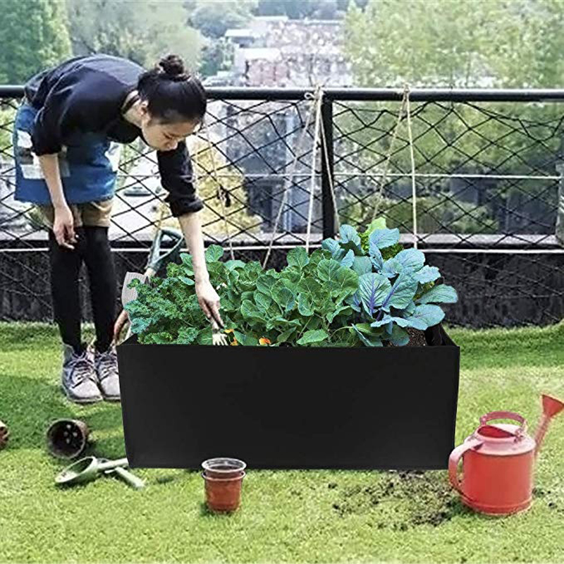 Grow Bags Non-Woven Fabric Raised Garden Bed Rectangle Planting Container Flower Vegetable Potato Nursery Planter Pot Plants(China)