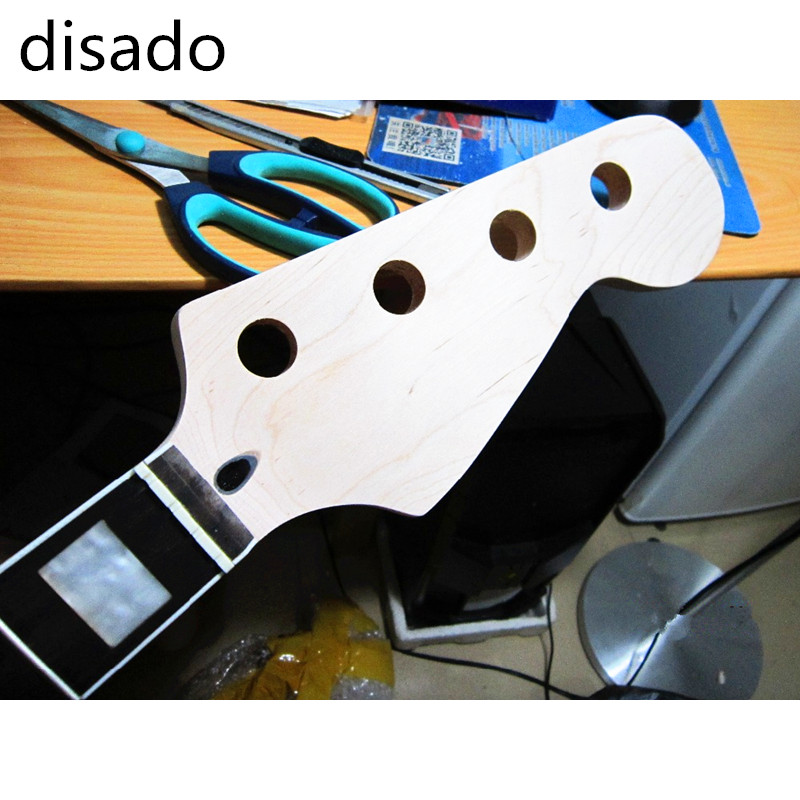 Modest Disado 20 Frets Electric Bass Guitar Neck Rosewood Fingerboard Guitar Accessories Parts Musical Instruments Volume Large Musical Instruments