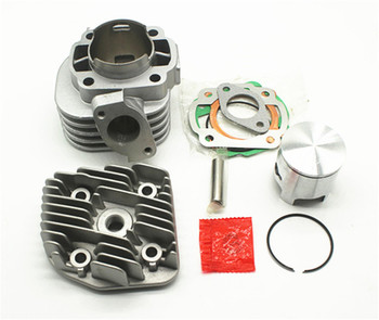 Super Quality ceramic cylinder For Yamaha jog 50 Jog50 Motorcyle Cylinder Jog Jonway Jmstar 1E40QMB 47.6m Pin=10MM