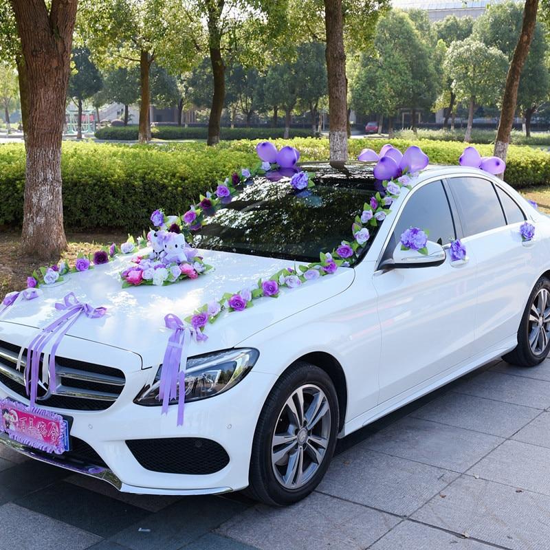 Искусственные цветы, свадебное украшение автомобиля, искусственные цветы, набор, декоративные цветы, венки, плавающий декор, свадебная композиция R93 - 2