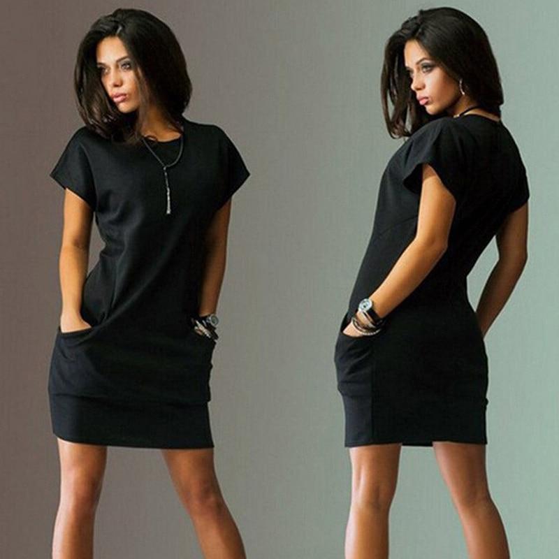 de negócios elegante solto vestidos de festa preto
