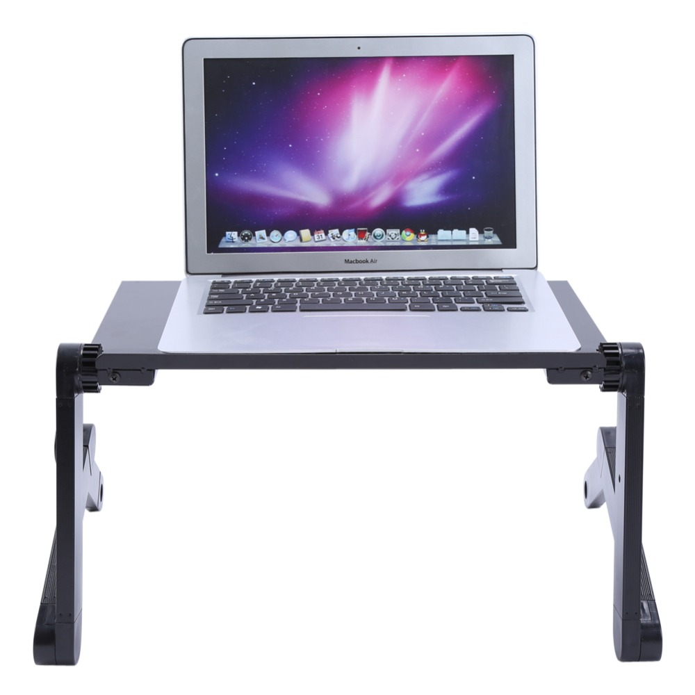 Adjustable Protable Foldable Aluminum Laptop Notebook Computer Desk Table Mouse Tray Universal