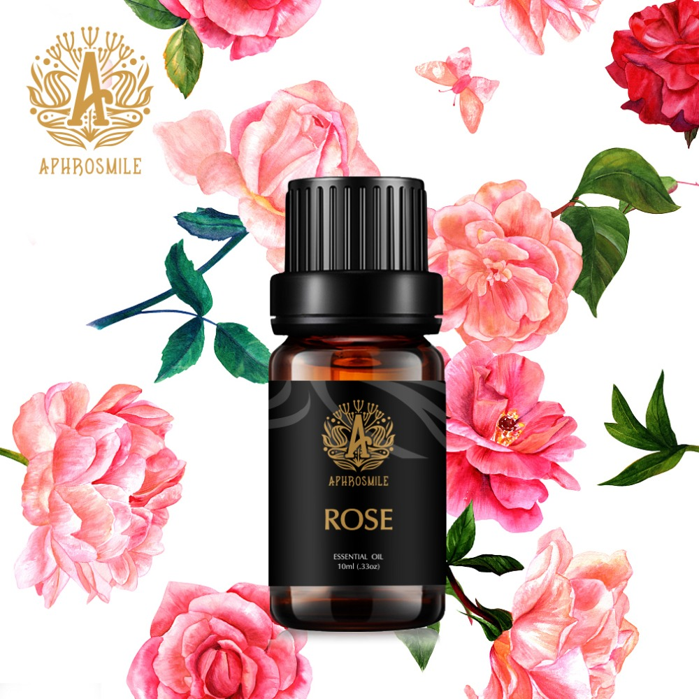 100% Pure Peppermint Rose Essential Oil Natural Plant Therapy Lymphatic Detox Oil Natural Anti-Aging Body Massage Oil 10ml