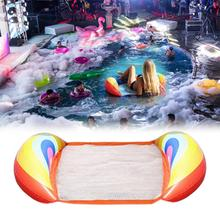 Double-use PVC Inflatable Pool Floating Water Hammock Float Loung Loungers Backrest Fruit Row Swiming