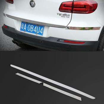 ประตูด้ามจับด้านหลังหมอกโคมไฟด้านนอกโครเมียม Automovil Dif ครอบคลุมตกแต่งรถ 10 11 12 13 14 15 16 17 สำหรับ Volkswagen Tiguan