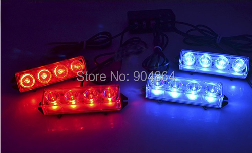 4*4 16 LED Car Vehicle Auto Warning Blinking Strobe Flash Emergency Lights Lightbar Deck Dash LIGHTS 6 Mode 12V