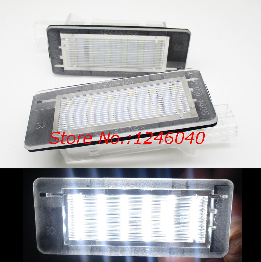 2x LED LICENSE NUMBER PLATE LIGHT RENAULT CLIO III 3 SPORT TOURER CANBUS