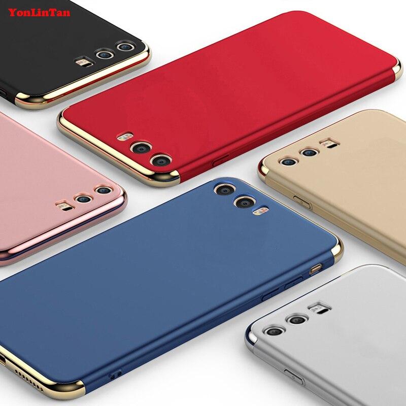 YonLinTan Coque,Case,cover For huawei p10 plus p10plus Original Luxury Plating Anti-Knock 3in1 hard Plastic Phone Protective