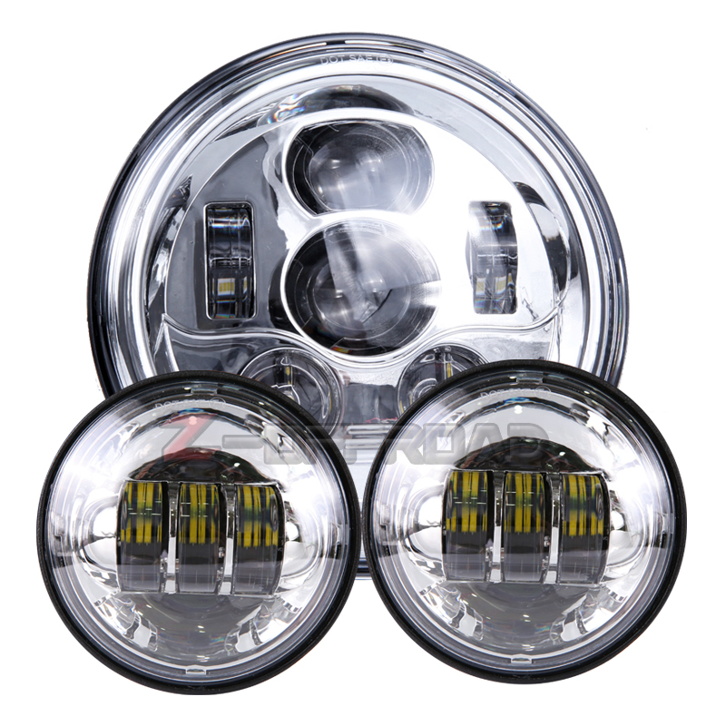 Motorcycle 7inch Led H4 Projector Headlight Replacement