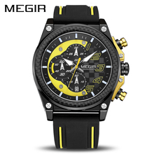 Kreative MEGIR Chronograph Sport Uhr Männer Silikon Armee Militär Handgelenk Uhren Uhr Männer Top Marke Luxus Relogio Masculino